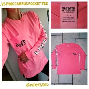 GUC, Vs pink pocket campus oversized tee